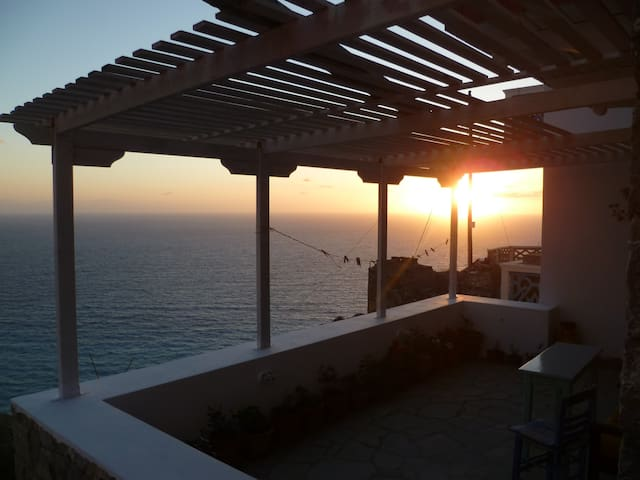 Stunning sea-view studio in Olympos (Anemos 2) - Olympos - Appartement