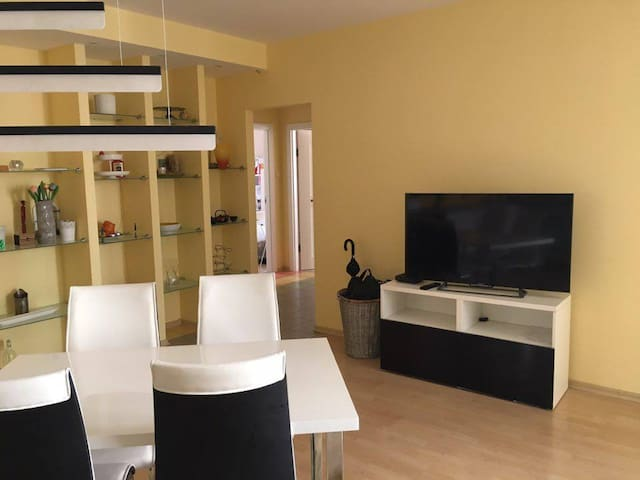 Spaceful comfy place close to the Warsaw Old town - Warszawa - Apto. en complejo residencial
