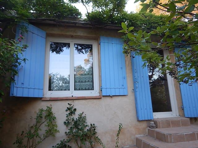 Maison bleue dans la garrigue à 2 pas D' Avignon