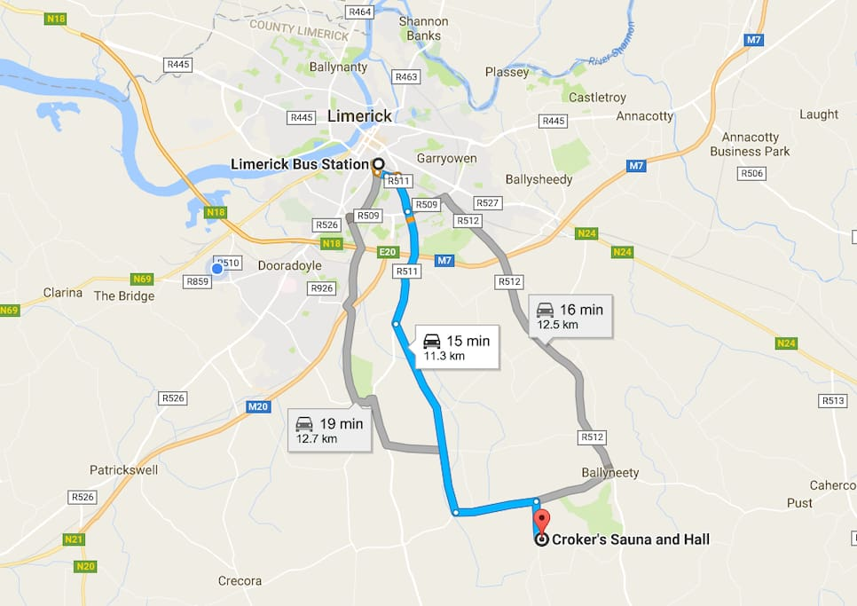 Directions from Limerick