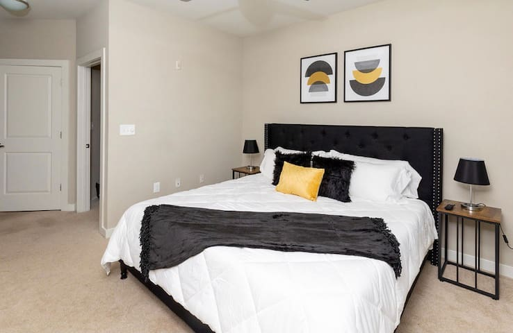 Bedroom #1 - Master bedroom with king bed and very comfortable gel infused memory foam mattress.