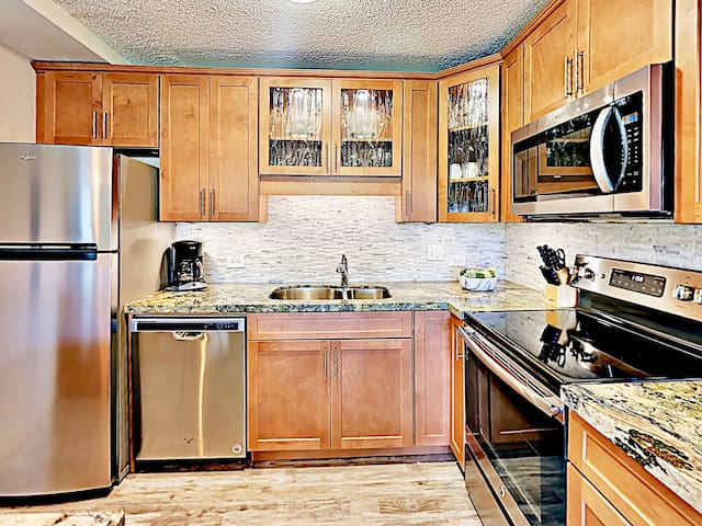 Your luxurious kitchen is newly updated with all new stainless steel appliances