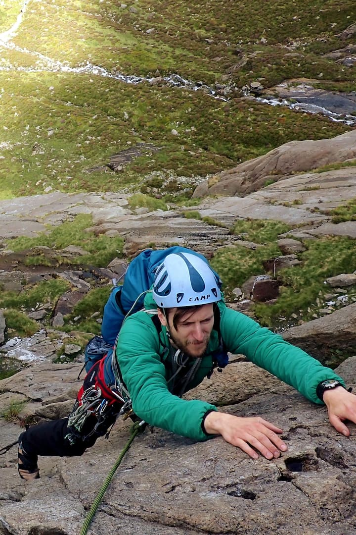 Jonny, intro to multi-pitch, Idwal slabs