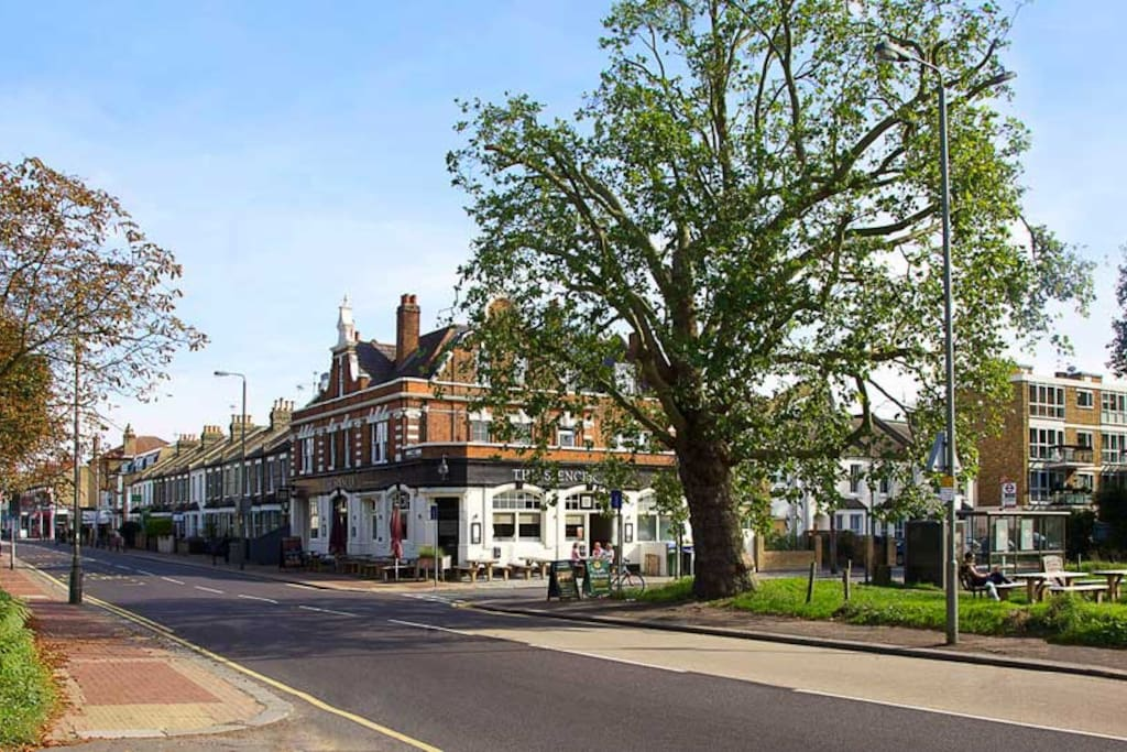 The Spencer, fronting onto Putney Common - just one of many pubs nearby