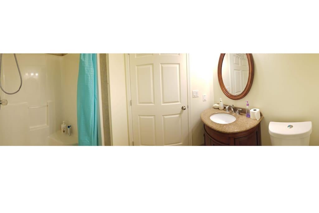 Panorama View of Washroom