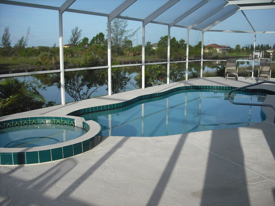 Melport house pool spa houses for rent in port for Pool and spa show charlotte nc