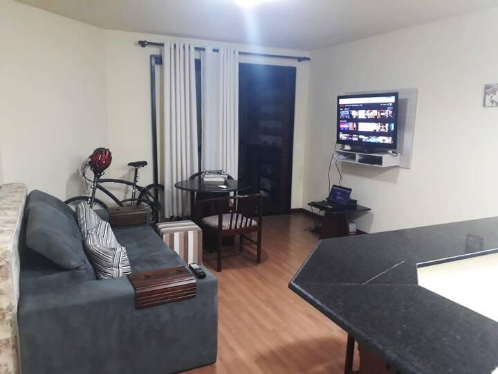 Apartamento mobiliado para até 4 pessoas