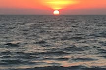 Beautiful sunset in Naples only 15 minutes away from the house.
