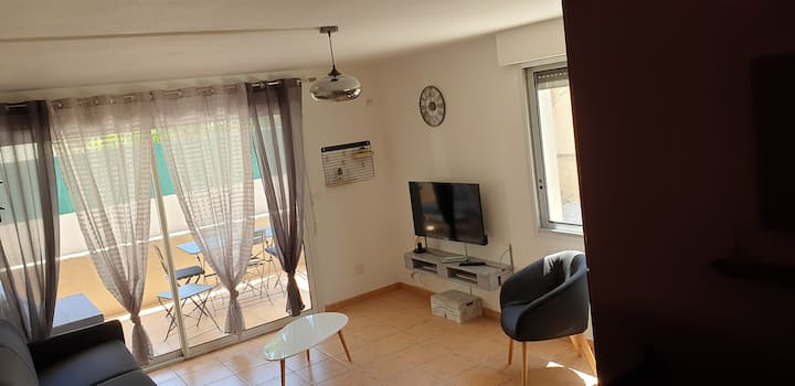 Appartement Plage Tout confort terrasse + parking