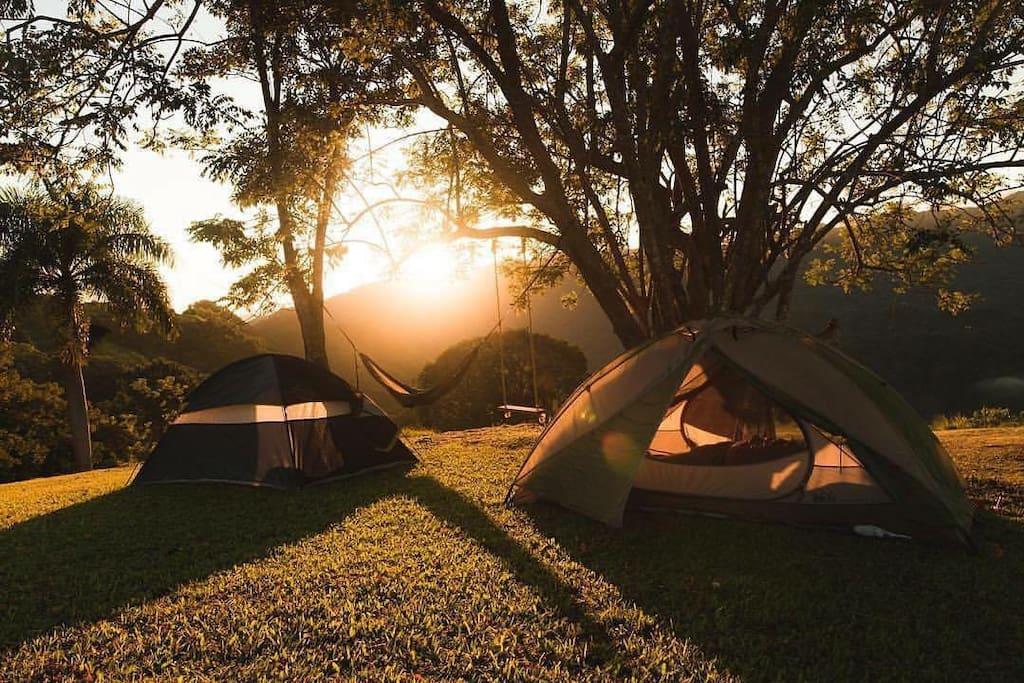 Finca Viernes también está disponible para acampar.