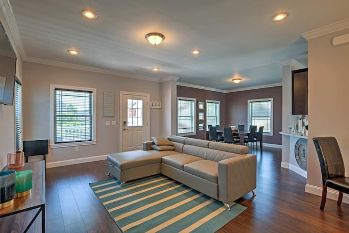 There are 1,600 square feet of interior space for guests to unwind in.