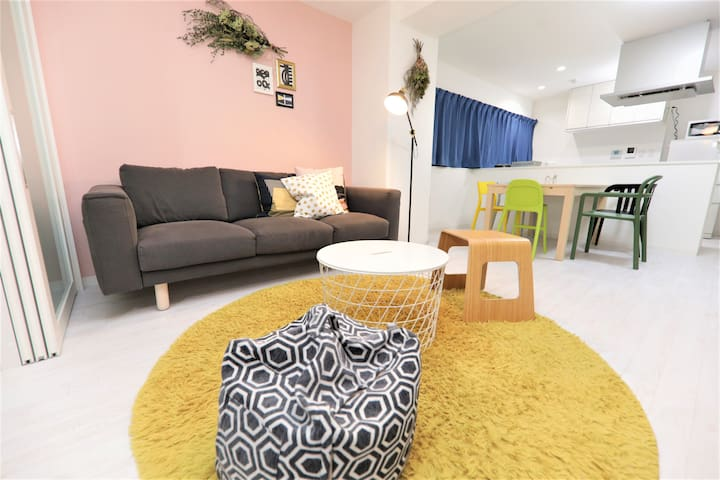 Close to Umeda &Namba,The Best Place,2Bd Room 77m²