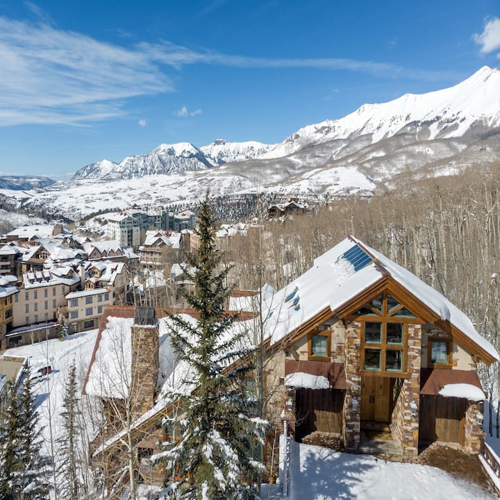 POSITIVE OUTLOOK - Mountain Village, Luxury Home, Close to Gondola, Walk to Ski