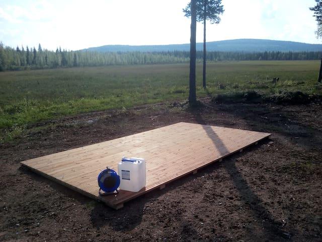 Telttapaikka Pyhätunturilla. Tent place in Pyhä.