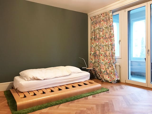 Parques Rietberg, spacious room without breakfast - Zürich - Wohnung