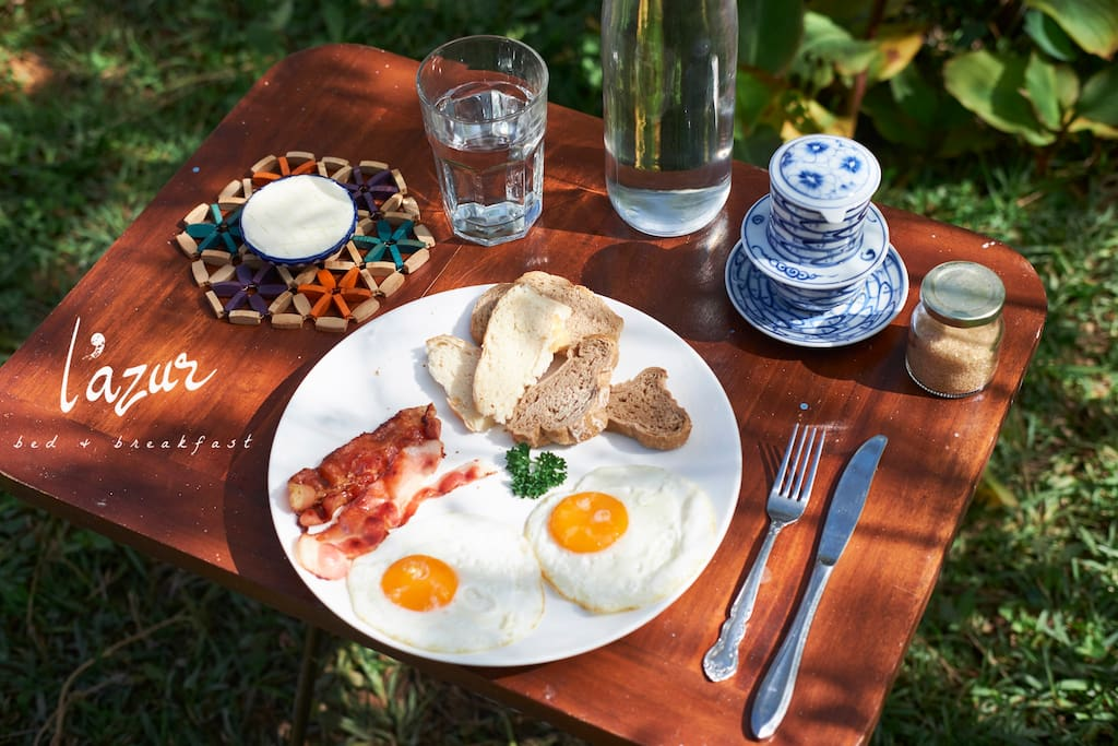 Selection of breakfast included