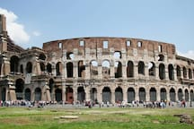 The Colosseum is 30 min walking far from our flat