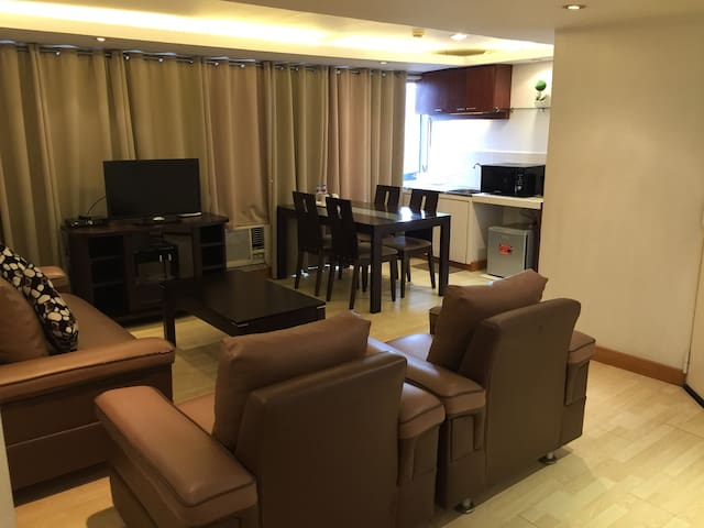 Spacious living area and dining area.