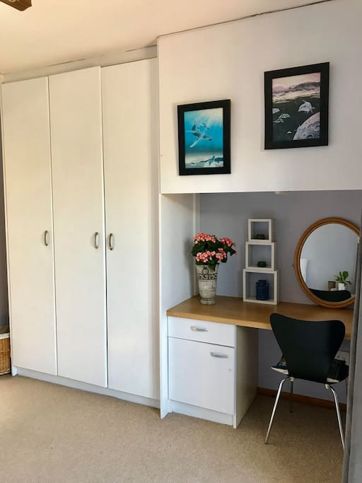 Cupboards with desk