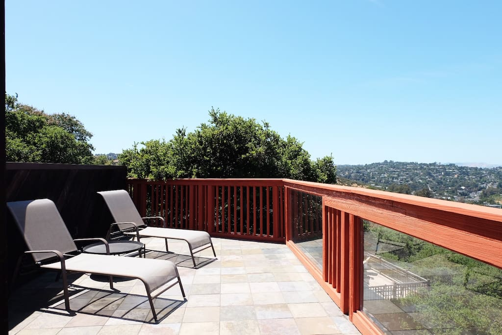 Top floor deck #3; Bedroom balcony view of the entire bay, spectacular at night