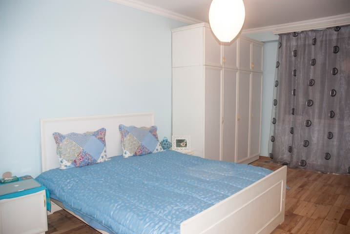 Blue & Cozy room in a bright and sunny apartment - Yerevan - Apartemen