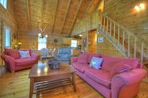 Seclusion at Hideaway Mountain- Family room