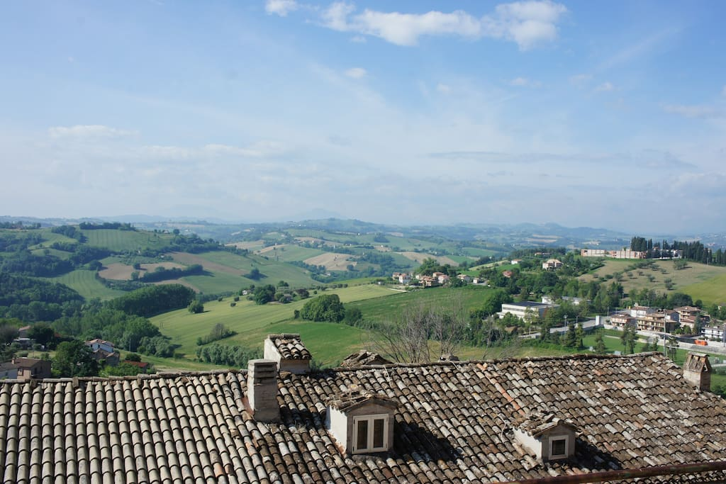 Views over Grottazzolina, from the B&B Il Sogno Castle
