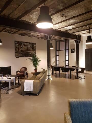 Loft rénové  avec 2 chambre au calme