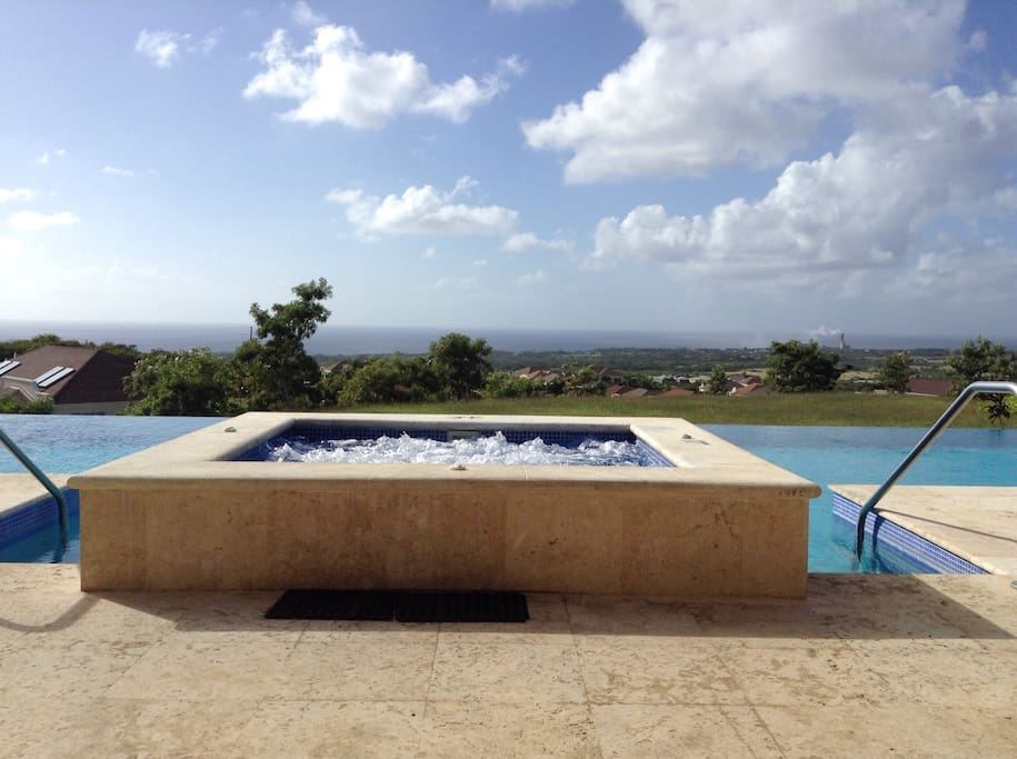 Hot tub and Jacuzzi,relax and enjoy the stunning views of the Caribbean sea