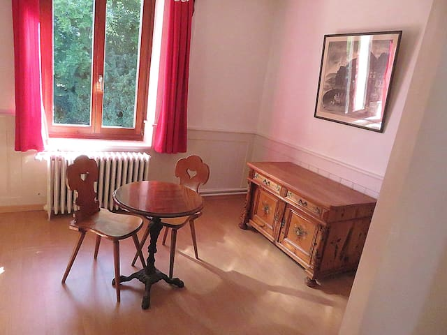 Swiss room, near Aarau with 1 extra bed possible