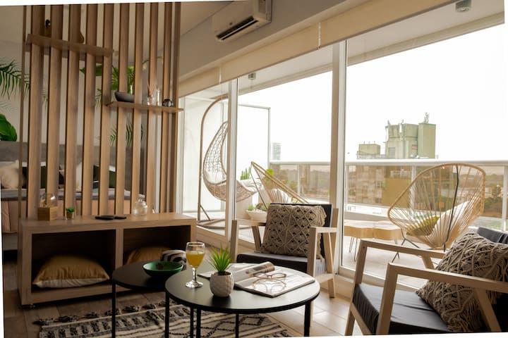 Studio & Balcony Terrace in Palermo Hollywood