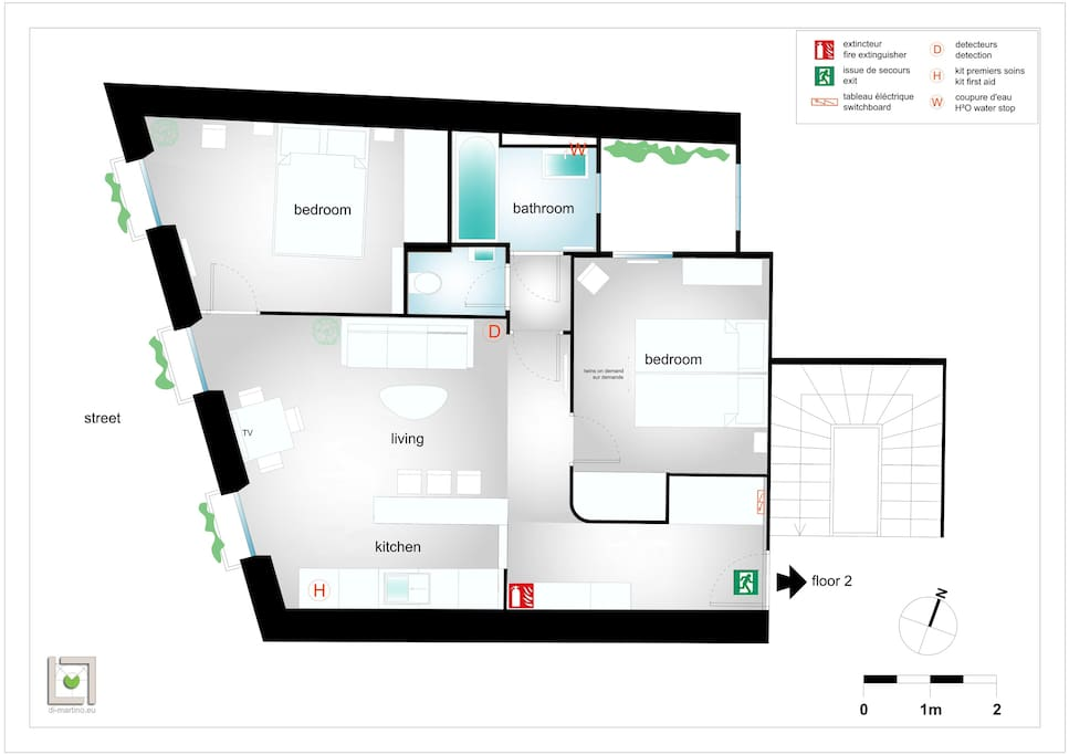 plan de l'appartement