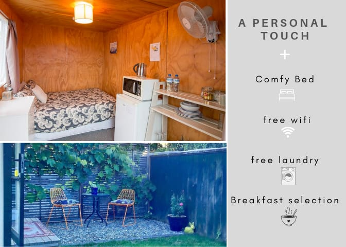 Fern Cabin | Nelson | Breakfast | No Cleaning Fee!