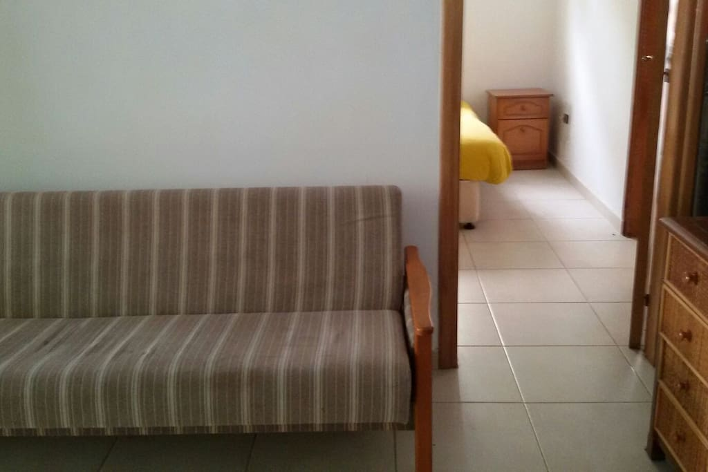 Extra sofa bed in next room available