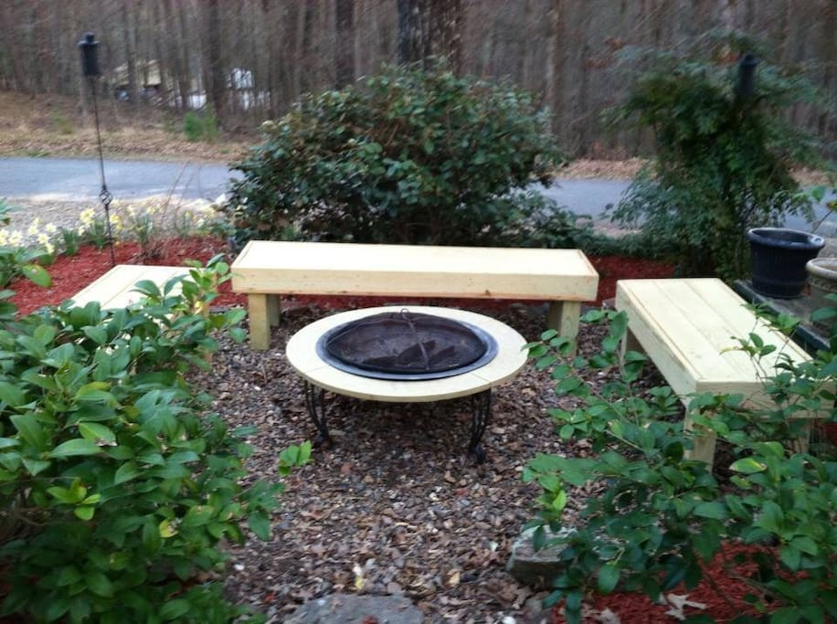 Fire pit for a fun family cookout.