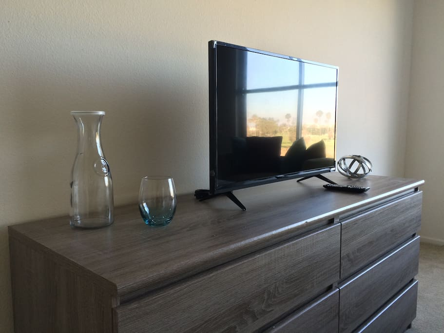 Your room comes equipped with a smart tv. Connect to YouTube, Netflix, and many more via wireless internet.