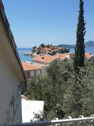 Studio with Terrace and Sea View ANDJ - Sveti Stefan - Lejlighed
