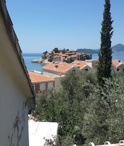 Studio with Terrace and Sea View ANDJ - Sveti Stefan - 公寓
