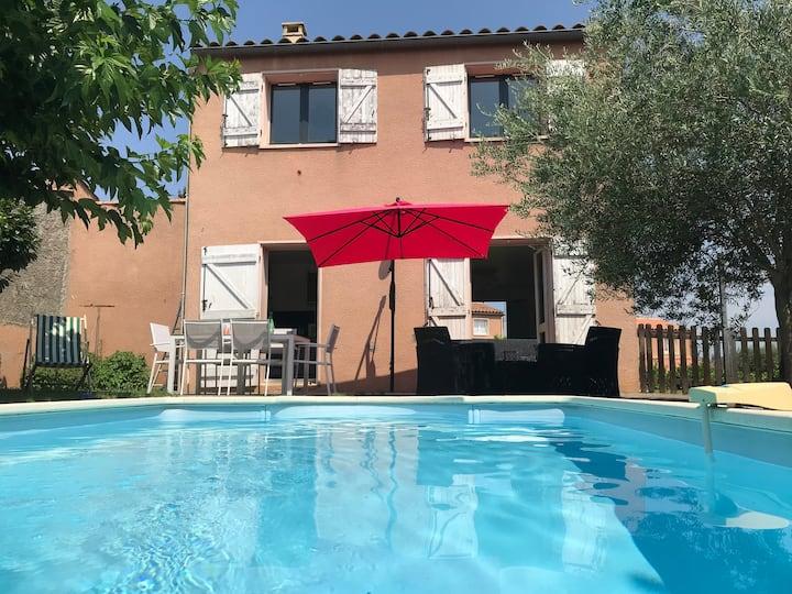 La petite Chocolatine - Maison avec piscine privée