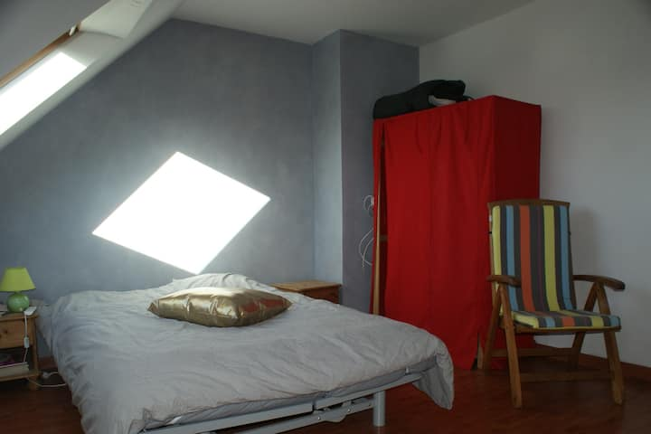 1 chambre au calme, proche de Nantes