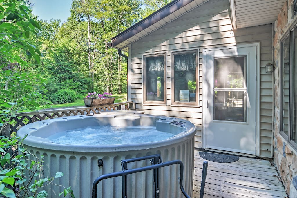 Make use of your own private hot tub.