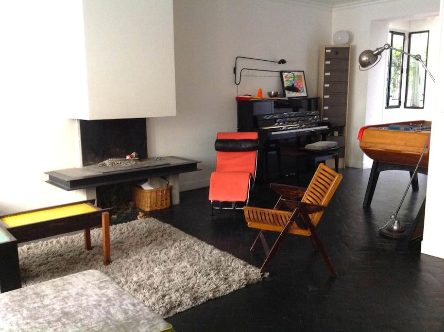 Ground floor: the living room (with a foosball)