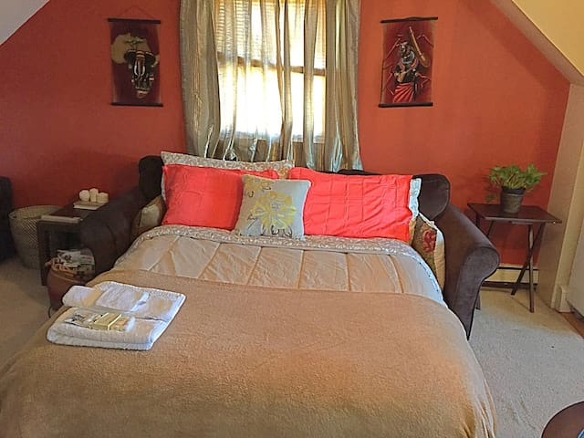FEMALE GUESTS ONLY/Living Room/SofaBed/Bath - Uniondale - House