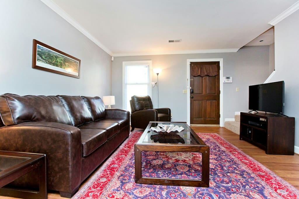 Queen size sofa bed on the main level.  Permit #2017014720