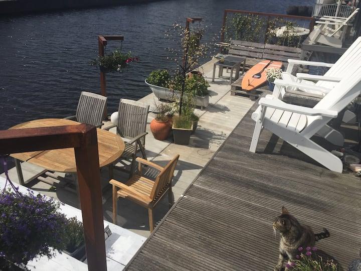 Room, brandnew luxurious houseboat