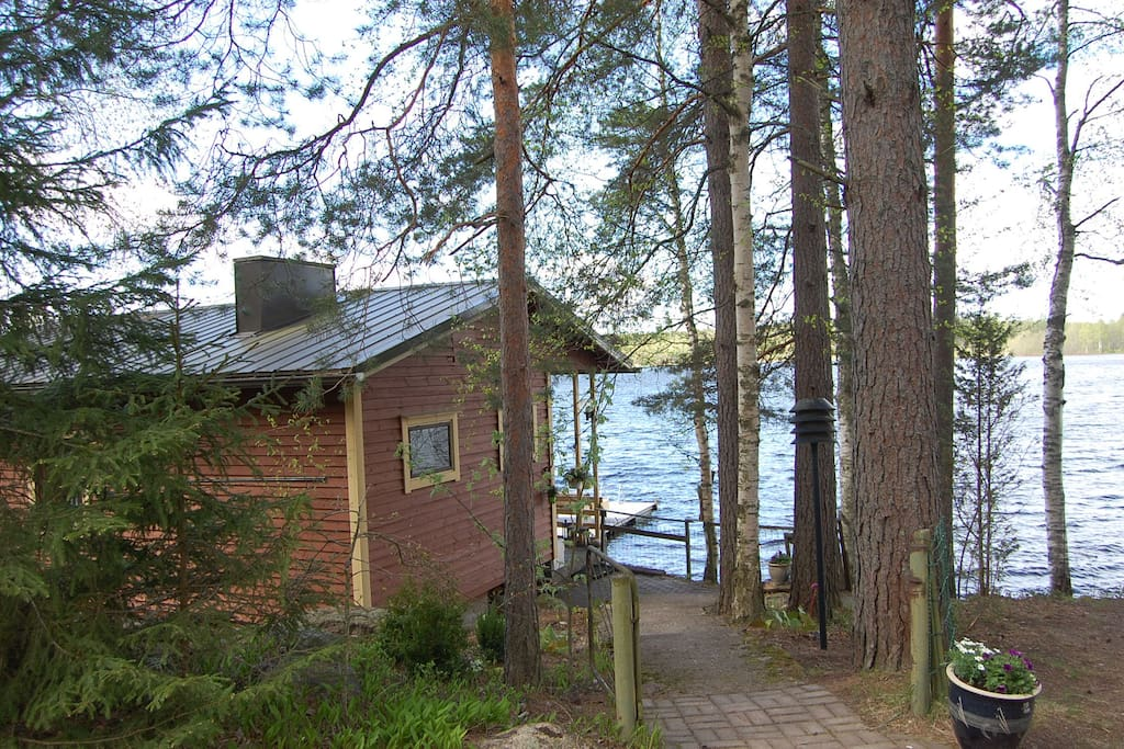 By renting this cottage you actually rent three buildings, pictures of them follow... Click further! Next picture is about the grillhut :)