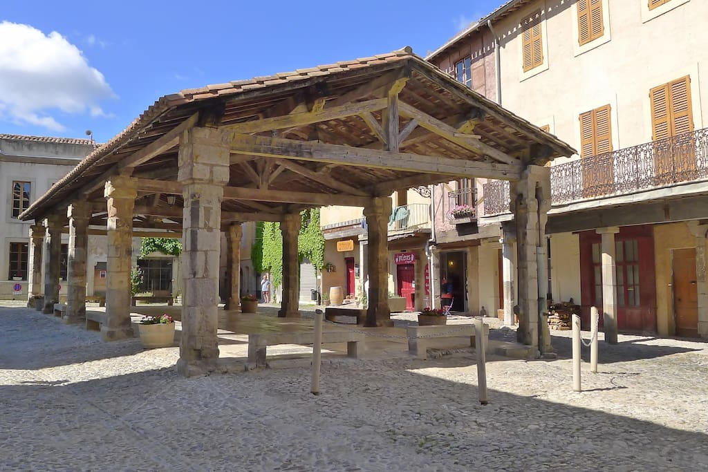 Market place in front of the house