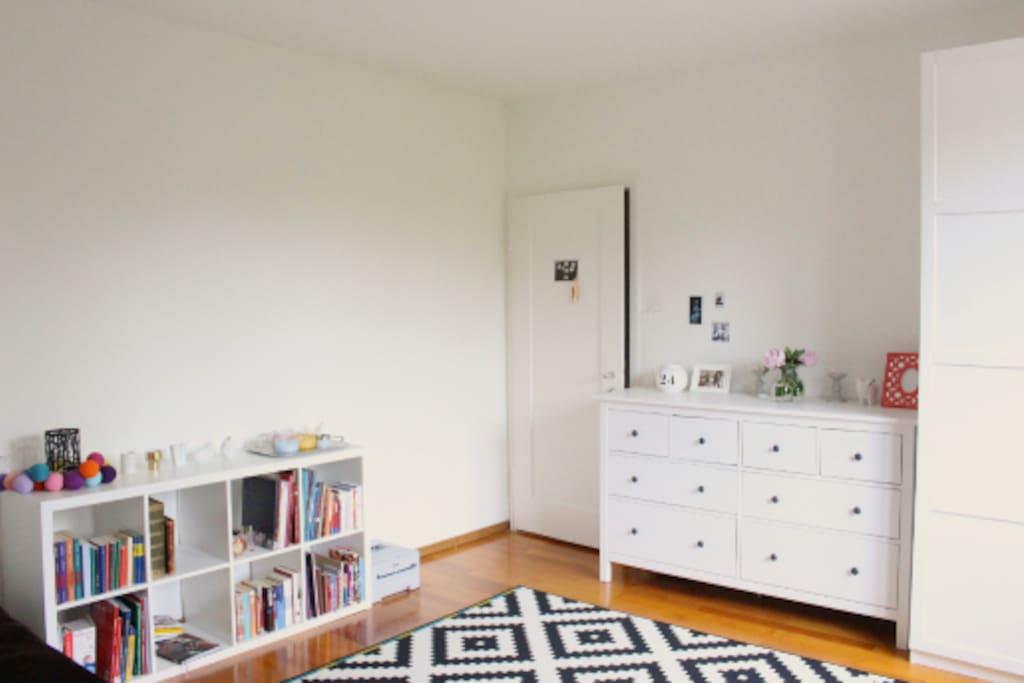 Generous room size.