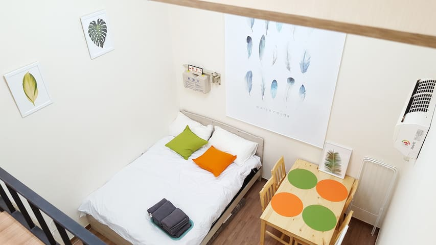 <DISCOUNT> Two Queen bed (지하철30초! 30sec to subway)