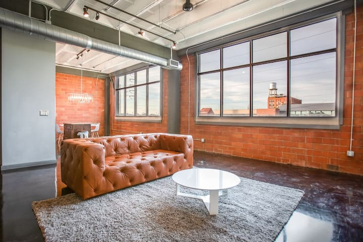 Indrustrial style loft with downtown views!